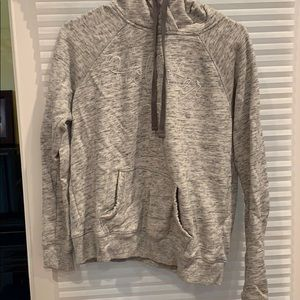 Grey and white hoodie